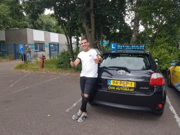 Rijschool Drive-Tec successful student